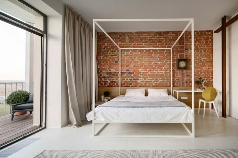 dormitorio cama dosel diseno slava balbek ideas