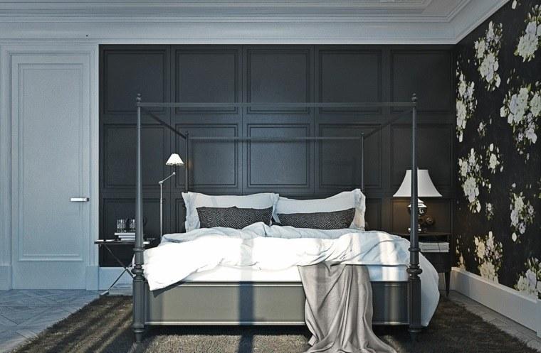dormitorio cama dosel diseno gris yo dezeen ideas