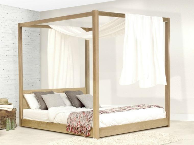 Decoraci n camas de matrimonio con dosel 36 ideas - Cama con dosel ...