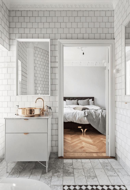dormitorio moderno baño blanco