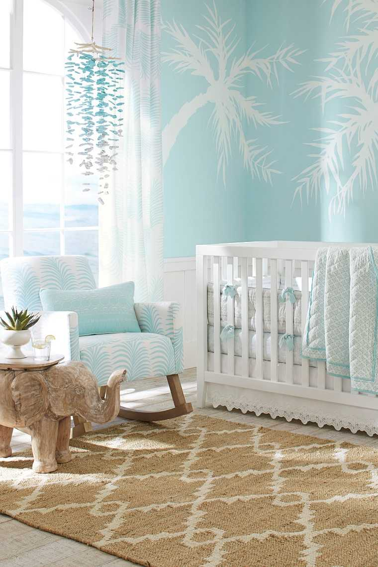 dormitorio moderno muebles color azul opciones cuna ideas