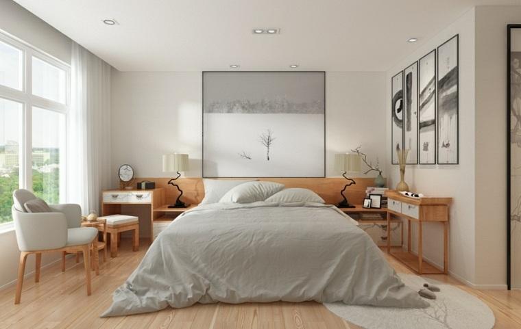 dormitorio zen diseno muebles cuadros