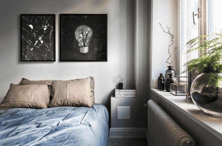 dormitorio moderno estilo nordico