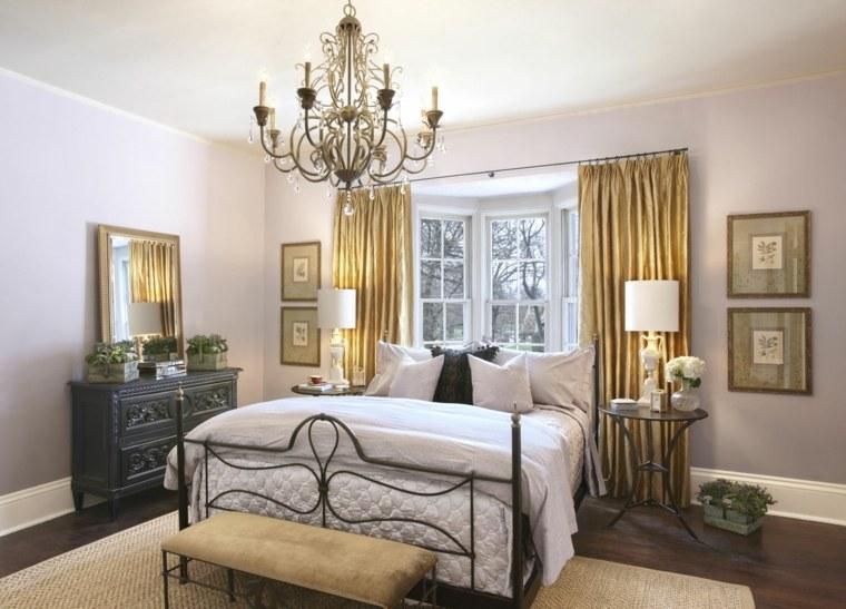 dormitorios clásicos cama acero opciones originales diseno ideas