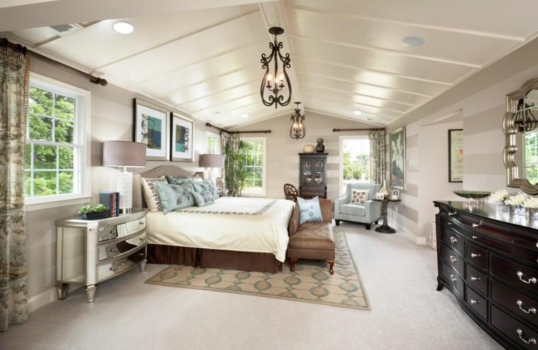 dormitorios clásicos estilo amplia techo alto ideas