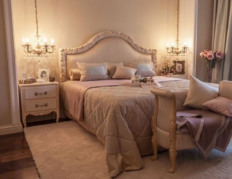 dormitorios clásicos estilo banco ante cama ideas