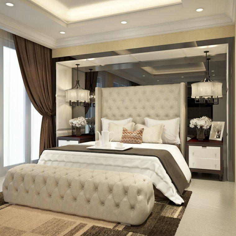 dormitorios clasicos estilo banco respaldo original ideas