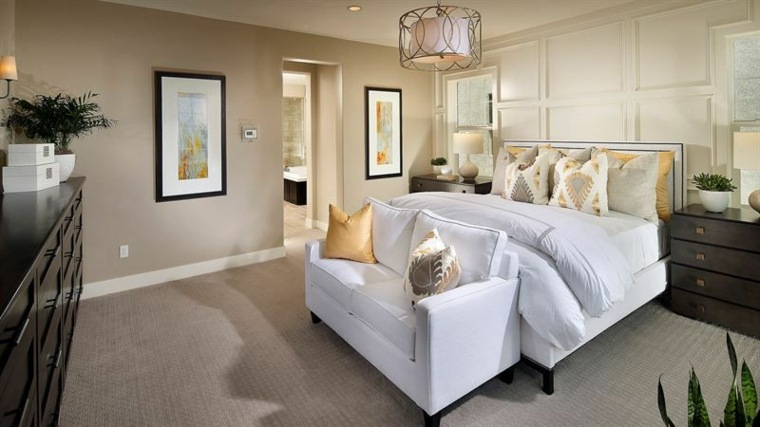dormitorios clásicos estilo cama blanca diseno ideas