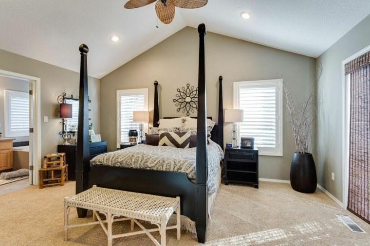 dormitorios clasicos estilo cama dosel color negro ideas