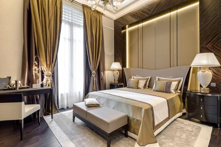 dormitorios clasicos estilo cortinas suelo techo iluminacion ideas