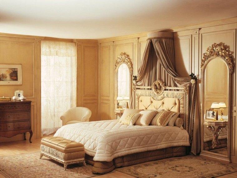 dormitorios clasicos estilo espejos grandes atractivos ideas