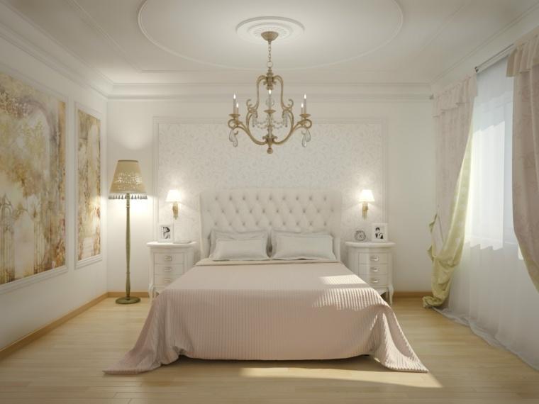 dormitorios clasicos estilo habitacion blanco ideas