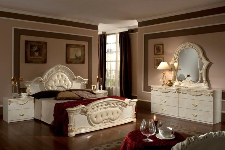 dormitorios clasicos estilo muebles balncos bonitos ideas