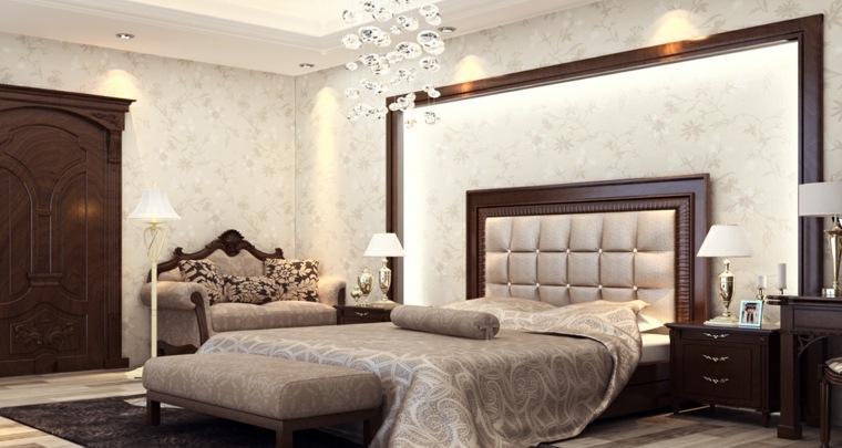 dormitorios clasicos estilo muebles madera opciones ideas