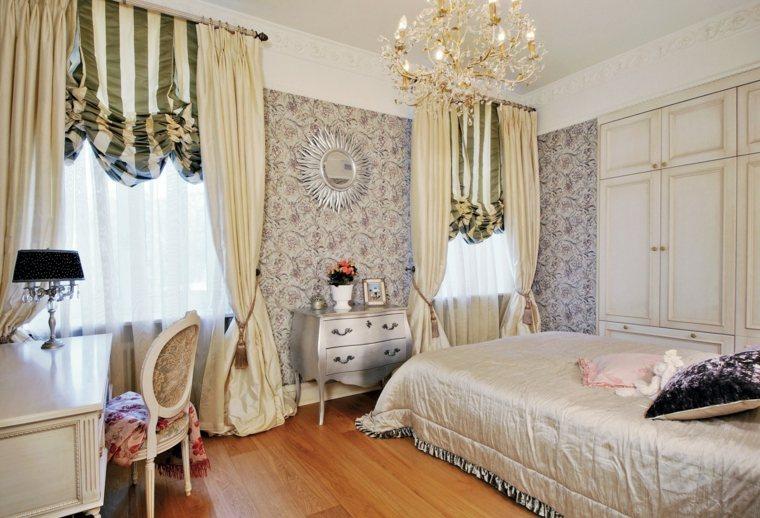 dormitorios clasicos estilo papel pared opciones ideas