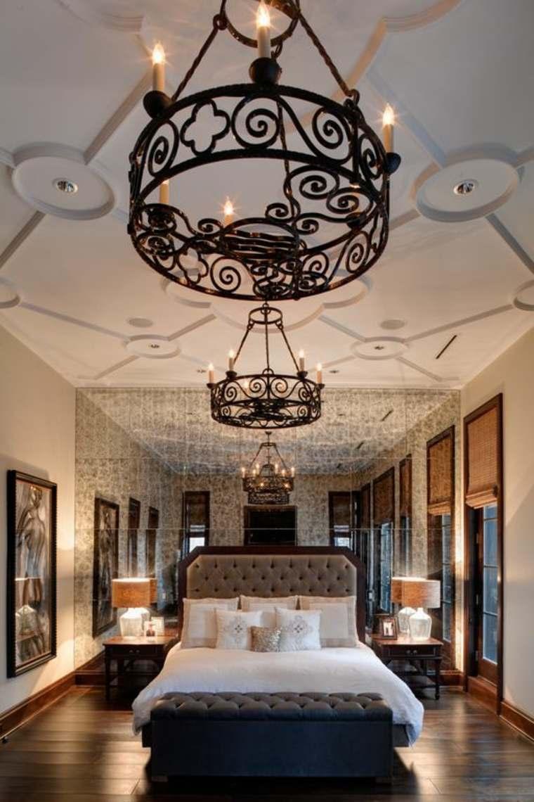 dormitorios clasicos estilo pared espejo opciones ideas