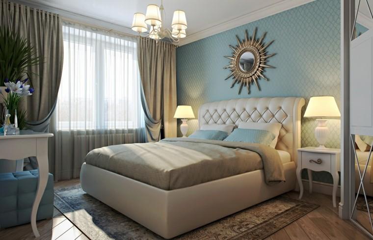dormitorios clasicos estilo paredes azules ideas