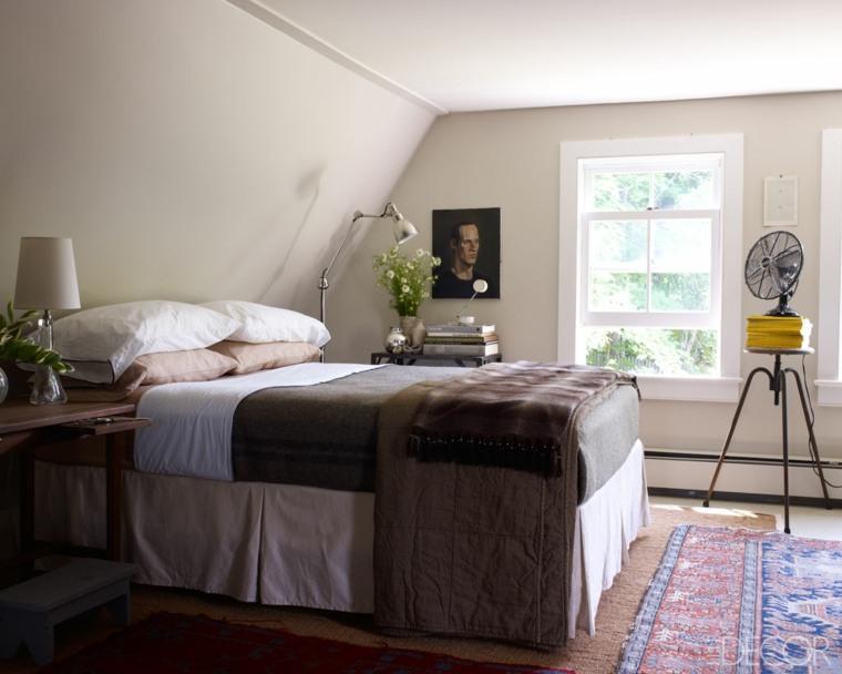 dormitorios clasicos estilo techos bajos ideas