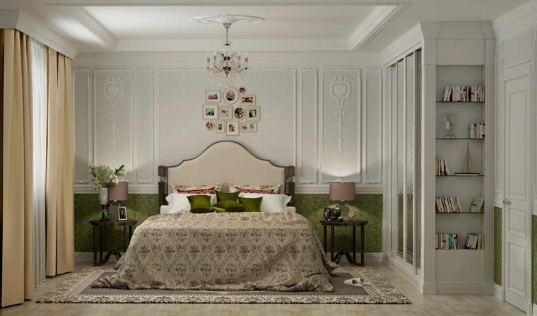 dormitorios clasicos estilo toques-color verde ideas