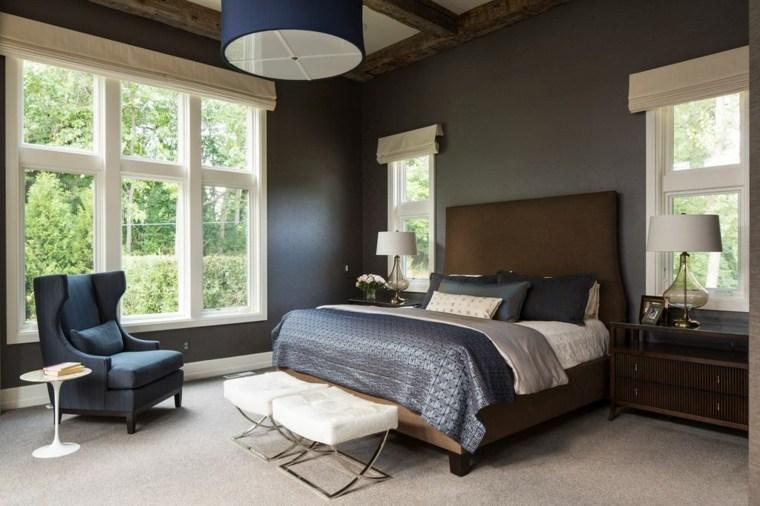 dormitorios clasicos estilo ventanas lados cama ideas