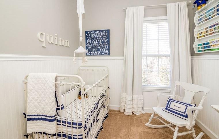 dormitorios de bebes cuna silla blanca habitacion pequena ideas