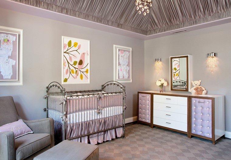 dormitorios de bebes retro modernos lavanda ideas