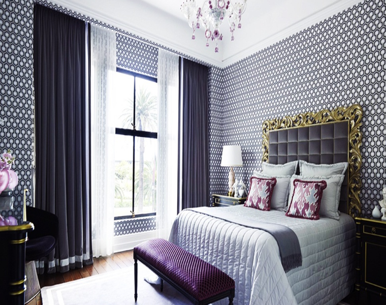original diseo dormitorio cortinas