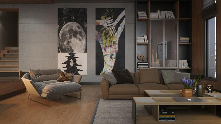 eclectico espacio estilo paredes lineas