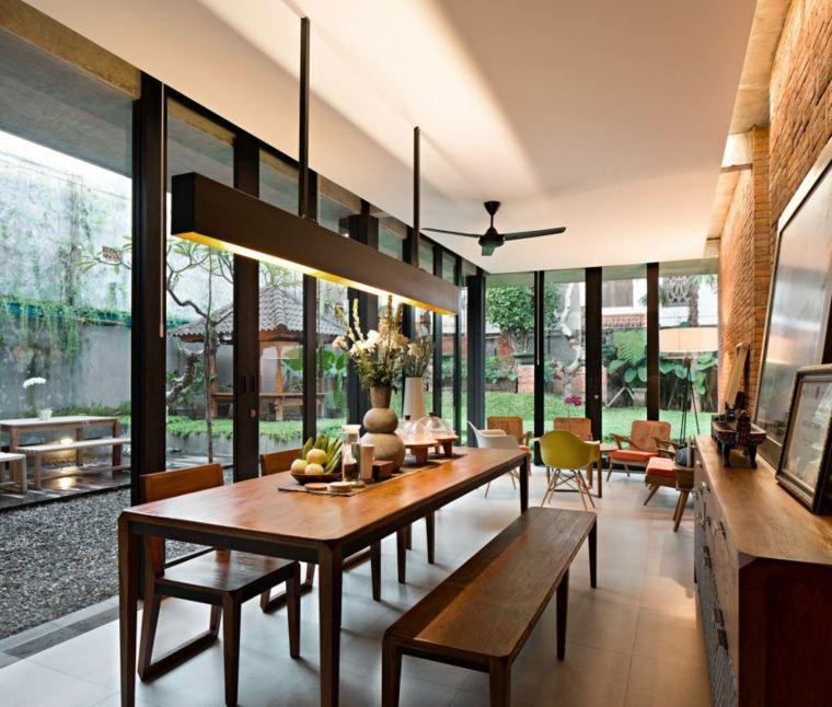 elegancia residencia comedor jardines calidas