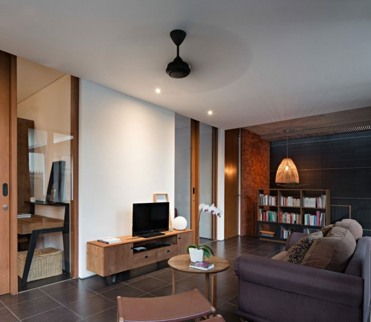 elegancia residencia muebles madera sala