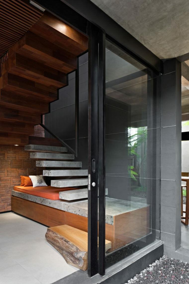 elegancia residencia rincon lectura escaleras