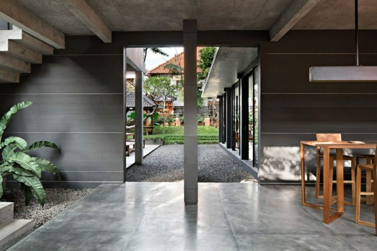 elegancia residencia rocas suelos espacios