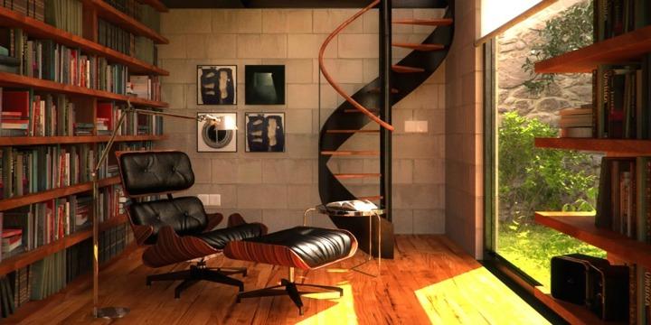 elegante moderno espacio lecturas efectos