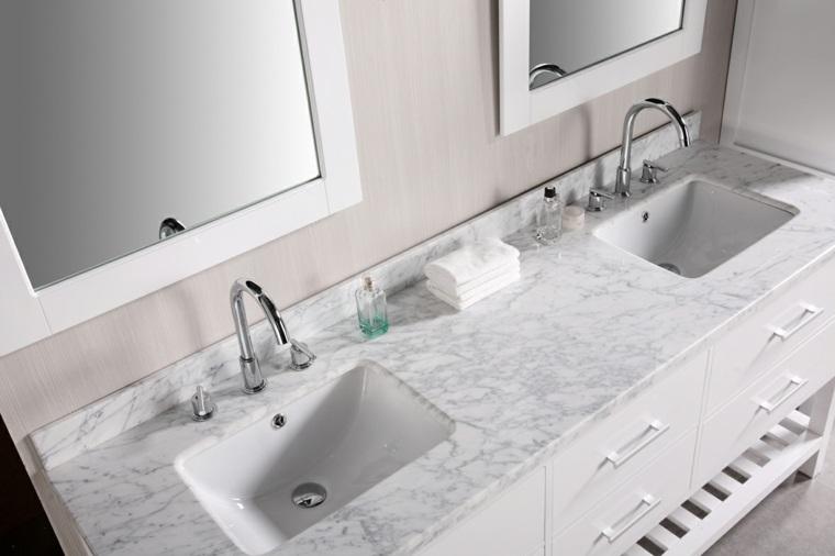 encimera baño blanco