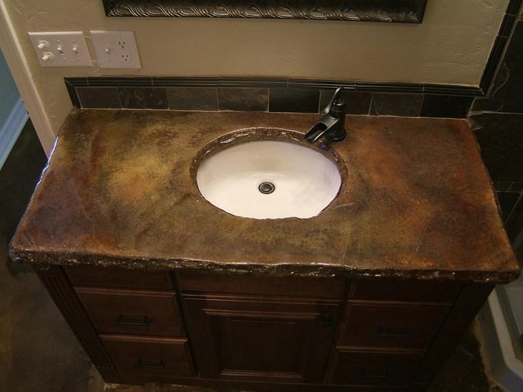 Encimera ba o distintas formas de decoraci n del interior - Encimeras bano madera ...