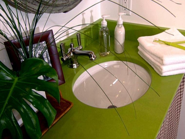 encimeras de baño verdes