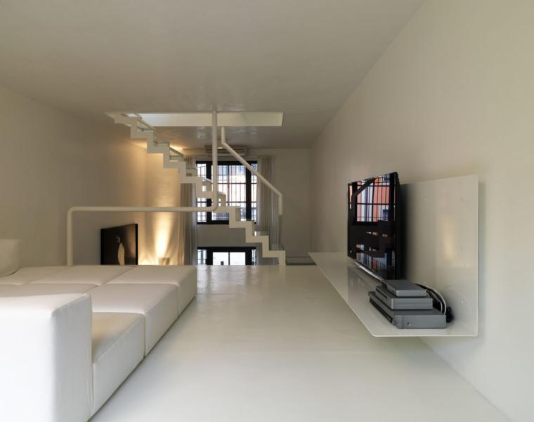 escalera moderna interior estilo minimalista