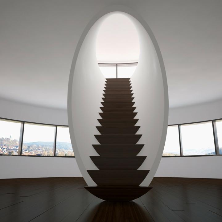 escaleras de interior diseo con elementos escultricos en el estilo
