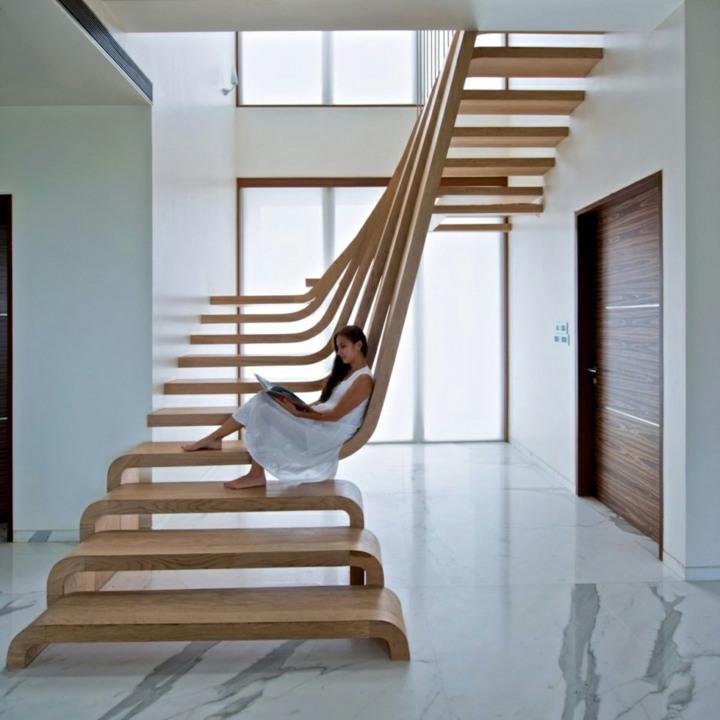 escaleras de interior diseño esculturas marmol suelos