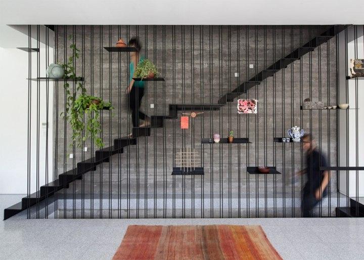 escaleras de interior diseño metales sistemas arboles