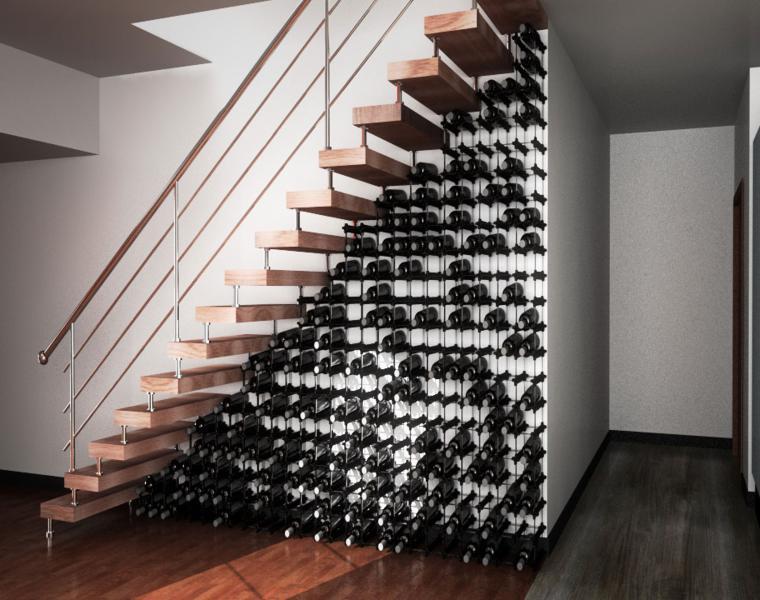 escaleras unidades almacenamiento para vino