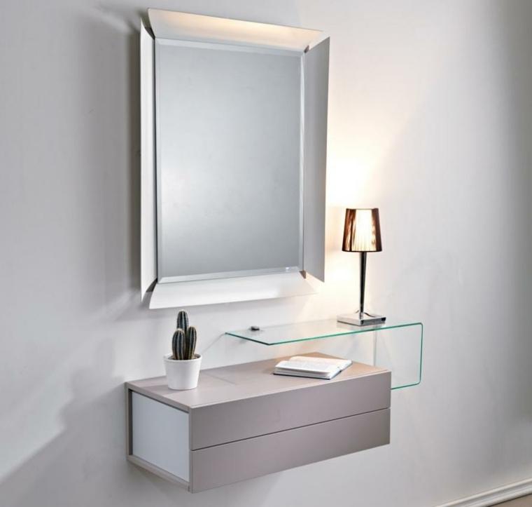 espejo recibidor moderno