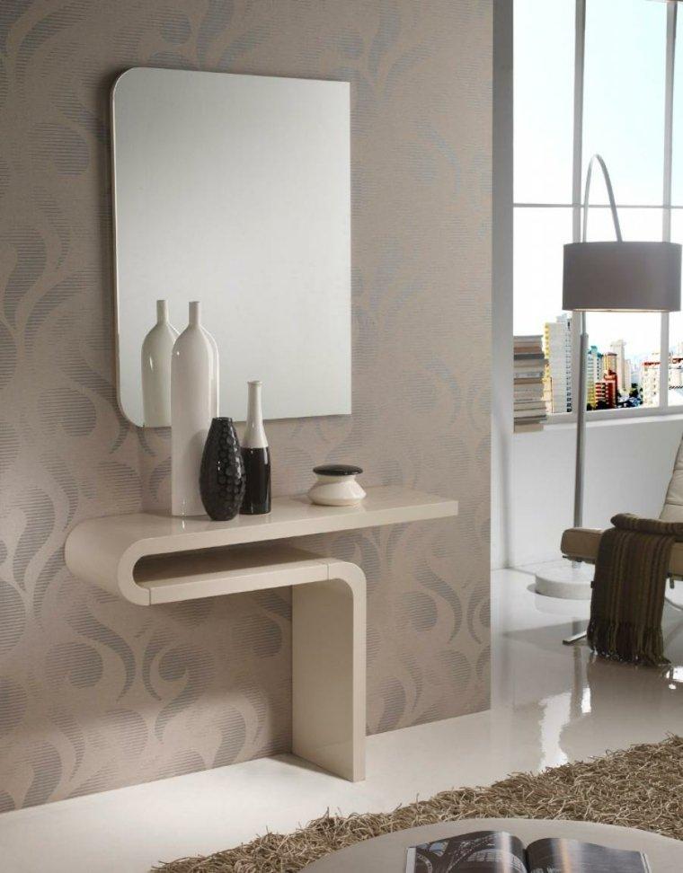 Espejos para recibidor para decorar los interiores - Recibidores pequenos modernos ...