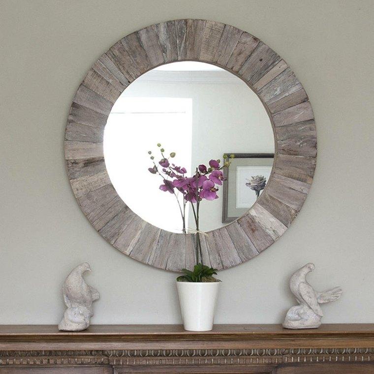 Espejos para recibidor para decorar los interiores for Espejos decorados modernos