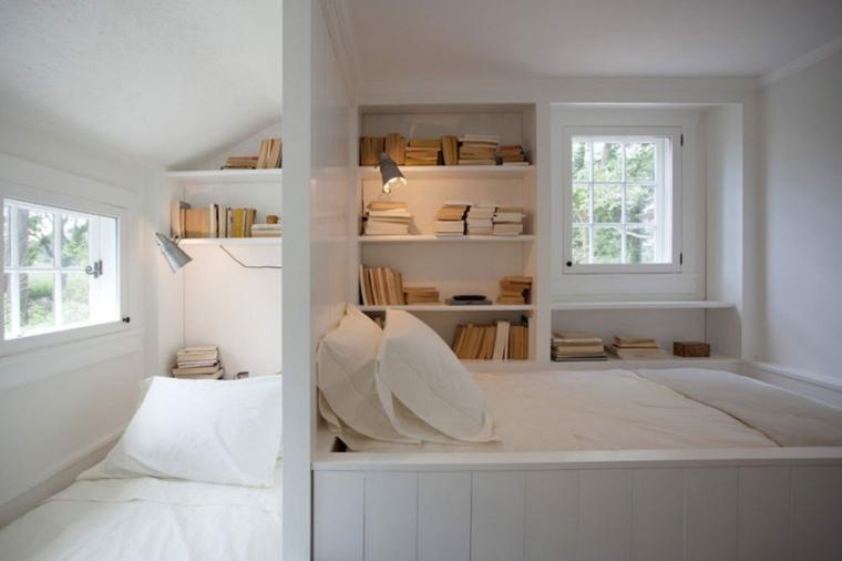 estantes colores especiales camas lineas