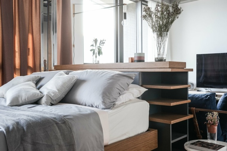 apartamentos espacio cabecero muebles plantas