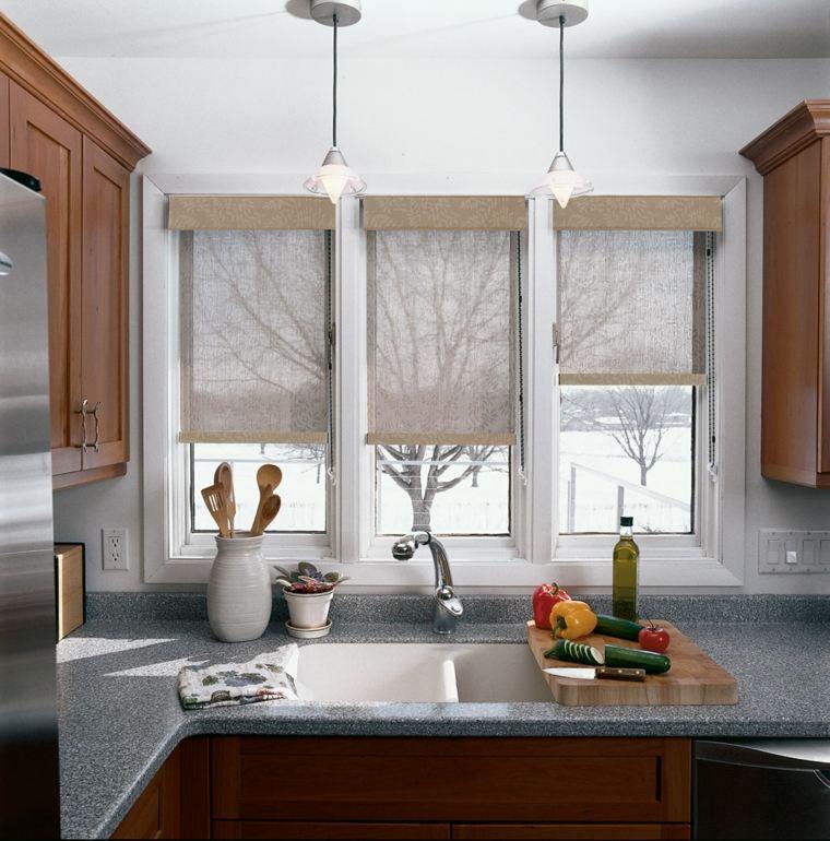 Cortinas de cocina y estores para enriquecer el dise o - Estores cocina modernos ...