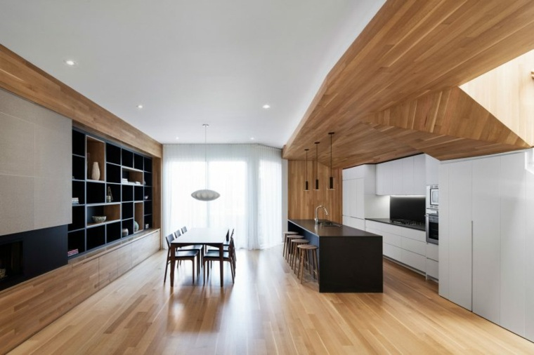 estructuras de madera abierta cocina sillas