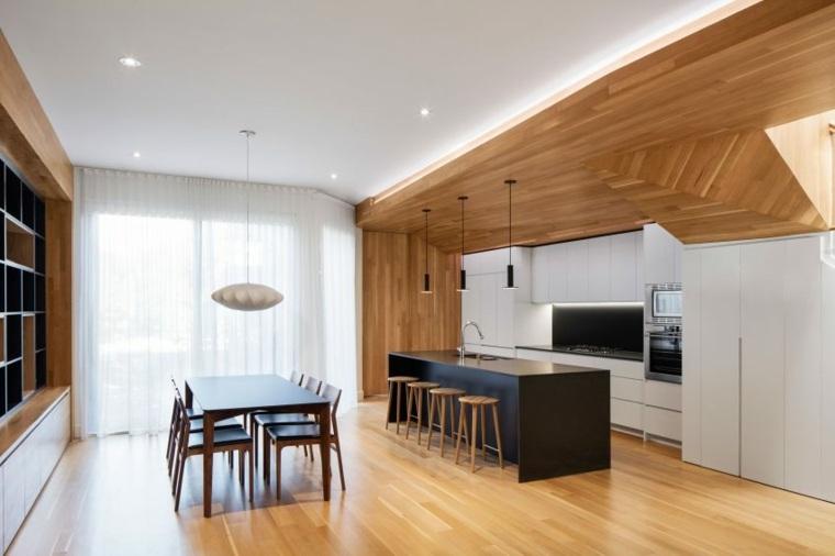 estructuras de madera cocina planes lamparas
