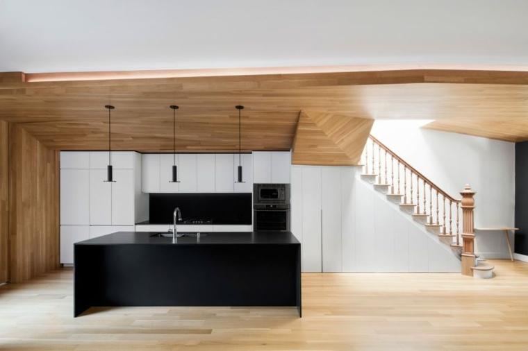 estructuras de madera interiores muebles encimeras
